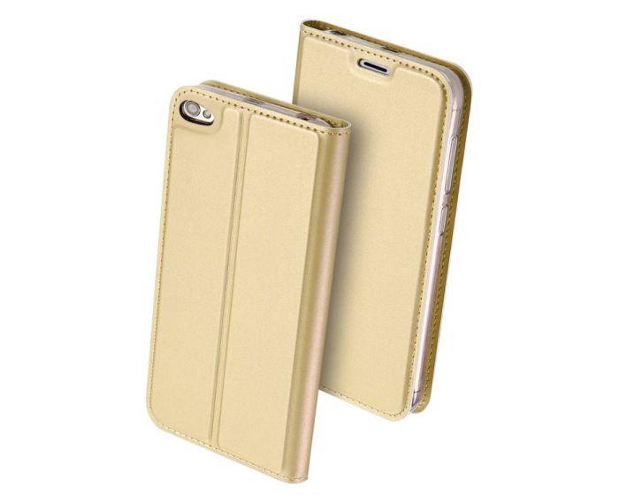 DUX DUCIS SkinPro Wallet Case Θήκη Πορτοφόλι με Stand - Gold (Xiaomi Redmi Note 5A)