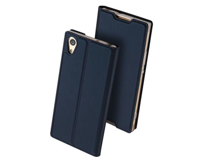 DUX DUCIS SkinPro Wallet Case Θήκη Πορτοφόλι με Δυνατότητα Stand - Navy Blue (Sony Xperia XA1)