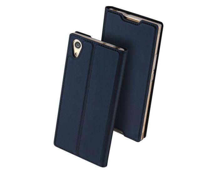 DUX DUCIS SkinPro Wallet Case Θήκη Πορτοφόλι με Stand - Navy Blue (Sony Xperia L1)