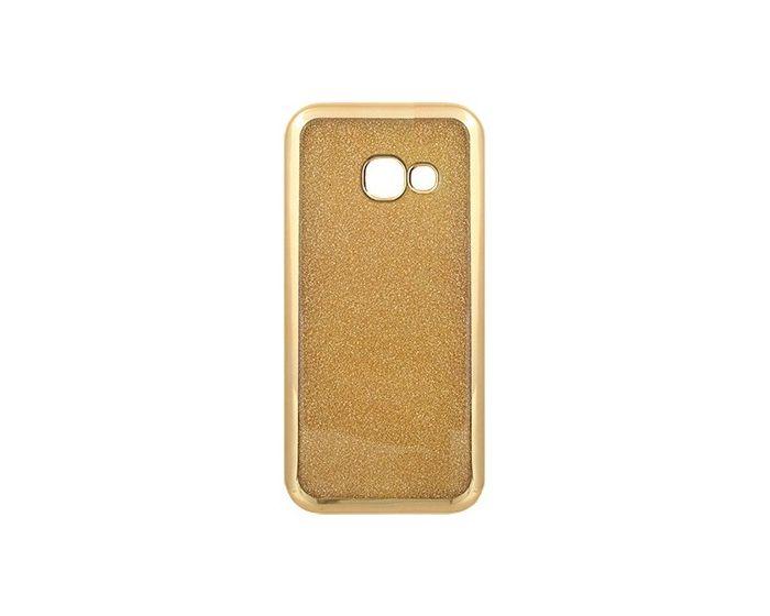 TPU Electro Soft Case με Αποσπώμενη Πλάτη Glitter - Gold (Samsung Galaxy A3 2017)