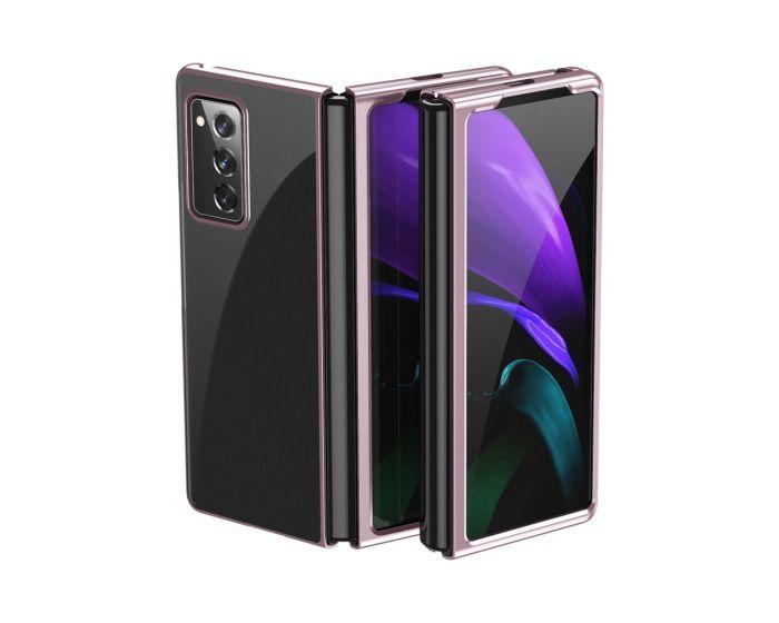 Electroplating Frame Cover Hard Case Σκληρή Θήκη (Samsung Galaxy Z Fold 2) - Pink