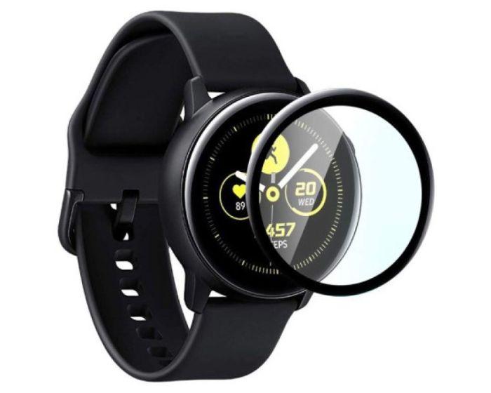 Bestsuit Flexible Hybrid Full Face Αντιχαρακτικό Γυαλί 5H Tempered Glass Μαύρο (Samsung Galaxy Watch Active 2 44mm)
