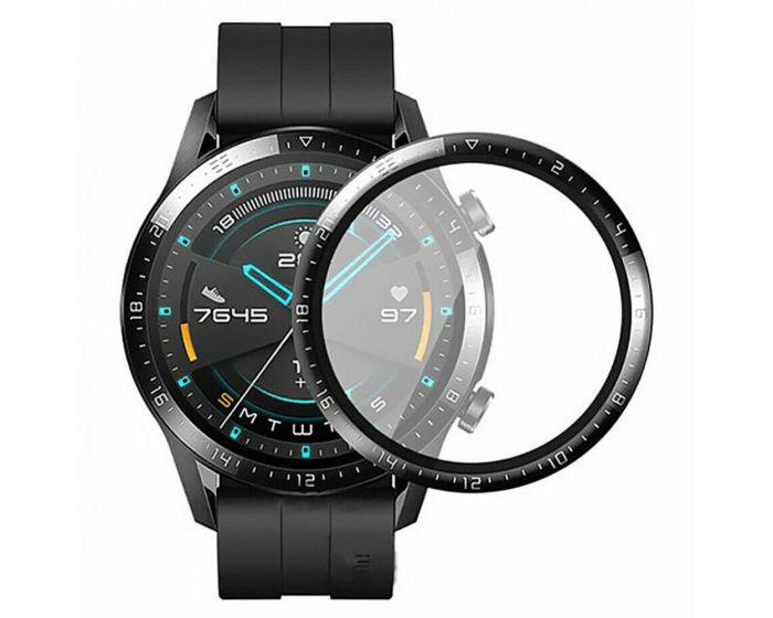 Bestsuit Flexible Hybrid Full Face Αντιχαρακτικό Γυαλί 5H Tempered Glass Μαύρο (Huawei Watch GT2 46mm)