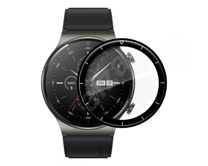 Bestsuit Flexible Hybrid Full Face Αντιχαρακτικό Γυαλί 5H Tempered Glass Μαύρο (Huawei Watch GT 2 Pro)