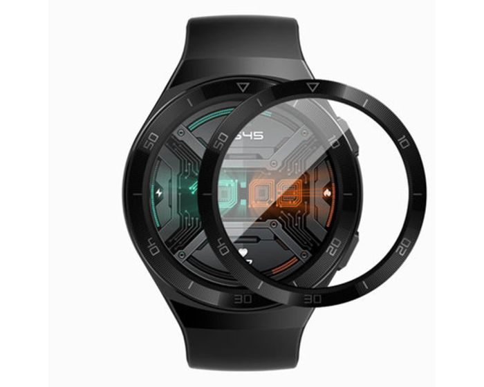 Bestsuit Flexible Hybrid Full Face Αντιχαρακτικό Γυαλί 5H Tempered Glass Μαύρο (Huawei Watch GT 2E 46mm)