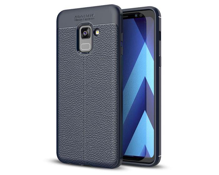 TPU Rugged Armor Football Grain Case Blue (Samsung Galaxy A8 2018)