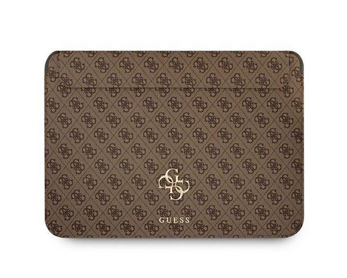 Guess Big Logo Protective Sleeve Θήκη Τσάντα για MacBook / Laptop 13'' - Brown
