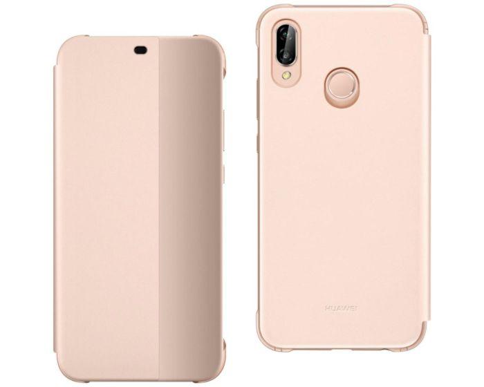 Original View Smart Cover Flip Case Θήκη με Ενεργό Παράθυρο - Pink (Huawei P20 Lite)