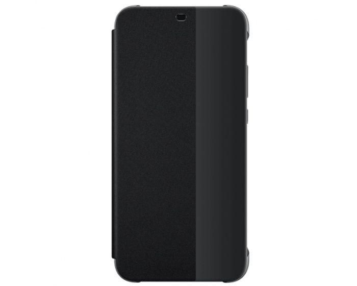 Original View Smart Cover Flip Case Θήκη με Ενεργό Παράθυρο - Black (Huawei P20 Lite)