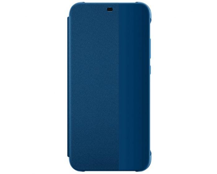 Original View Smart Cover Flip Case Θήκη με Ενεργό Παράθυρο - Navy Blue (Huawei P20 Lite)