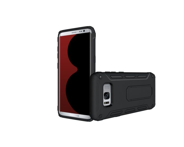 SHTL Ultra Stand Case Ανθεκτική Θήκη με Δυνατότητα Stand (150674) Μαύρη (Samsung Galasy S8)