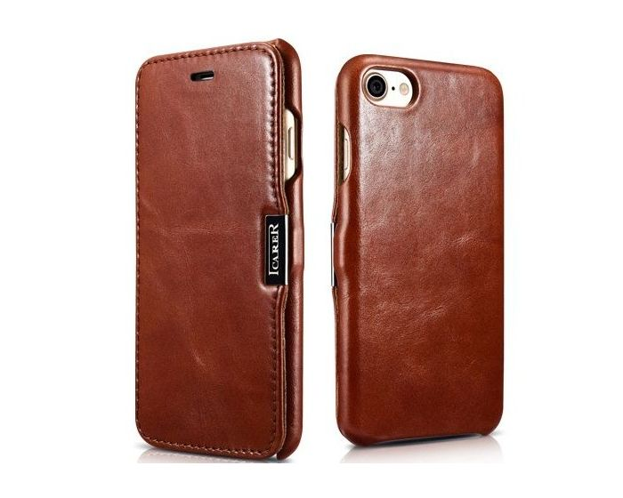 iCarer Vintage Series Side-Open Δερμάτινη Θήκη (136551) Brown (iPhone 7 / 8 / SE 2020)