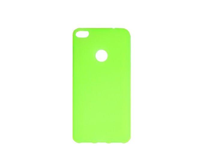 TPU Jelly Matte Slim Fit Case Θήκη Gel Green (Huawei P8 Lite 2017 / P9 lite 2017 / Honor 8 Lite)