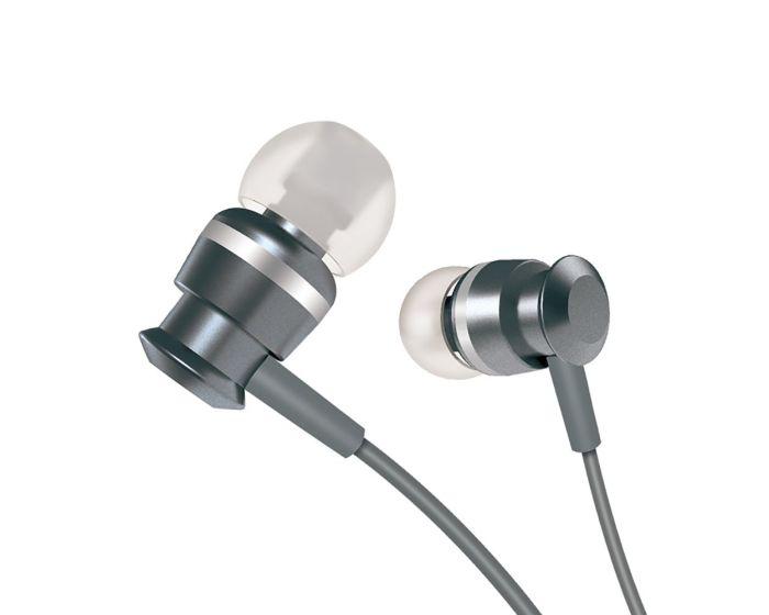 Joyroom JR-EL122 In-Ear Earphones Ακουστικά 3.5mm Mini Jack με Μικρόφωνο - Gray