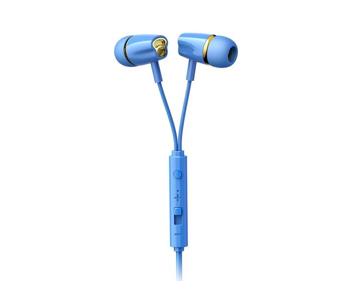 Joyroom JR-EL114 In-Ear Earphones Ακουστικά 3.5mm Mini Jack με Μικρόφωνο - Blue