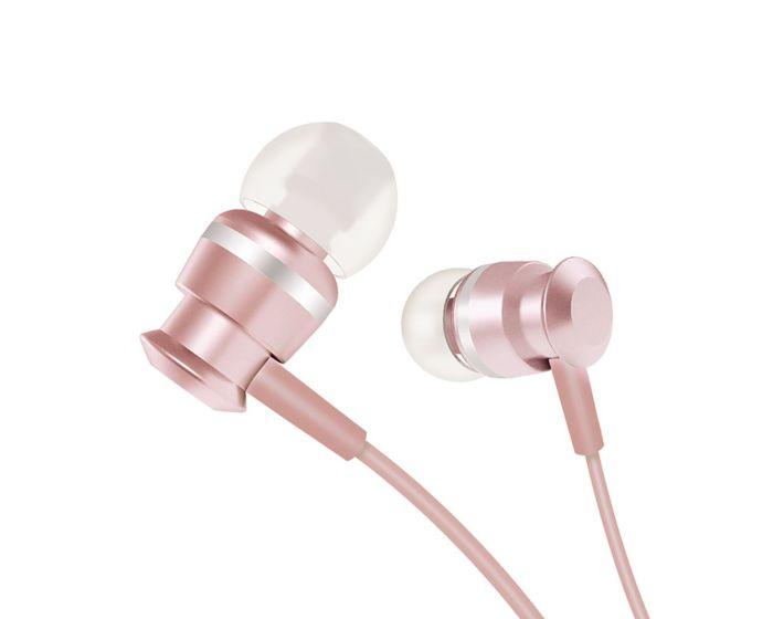 Joyroom JR-EL122 In-Ear Earphones Ακουστικά 3.5mm Mini Jack με Μικρόφωνο - Rose Gold