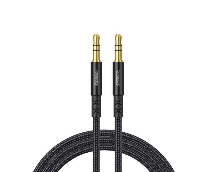 Joyroom SY-15A1 Stereo 3.5mm Mini Audio Jack AUX Cable Καλώδιο 2m Black
