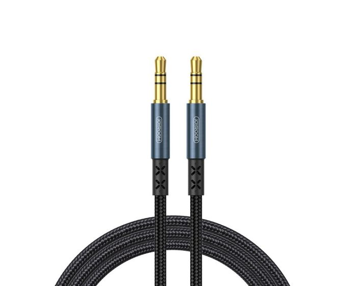 Joyroom SY-15A1 Stereo 3.5mm Mini Audio Jack AUX Cable Καλώδιο 2m Dark Blue