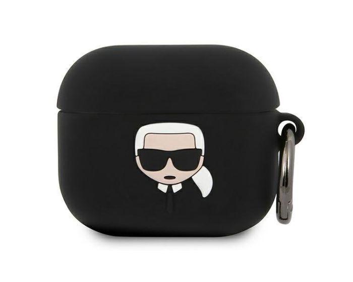 Karl Lagerfeld KLACA3SILKHBK Silicone Airpods Case Θήκη Σιλικόνης για Airpods 3 - Black