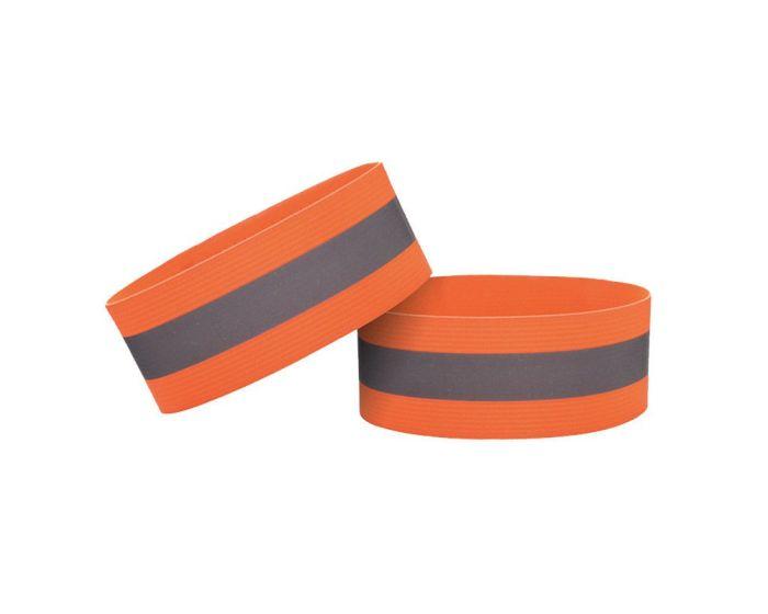 Reflective Strap Armband for Running / Bike Φωσφοριζέ Velcro 4cm - Orange