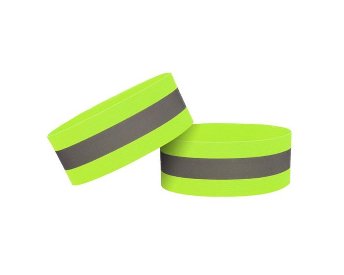 Reflective Strap Armband for Running / Bike Φωσφοριζέ Velcro 4cm - Yellow