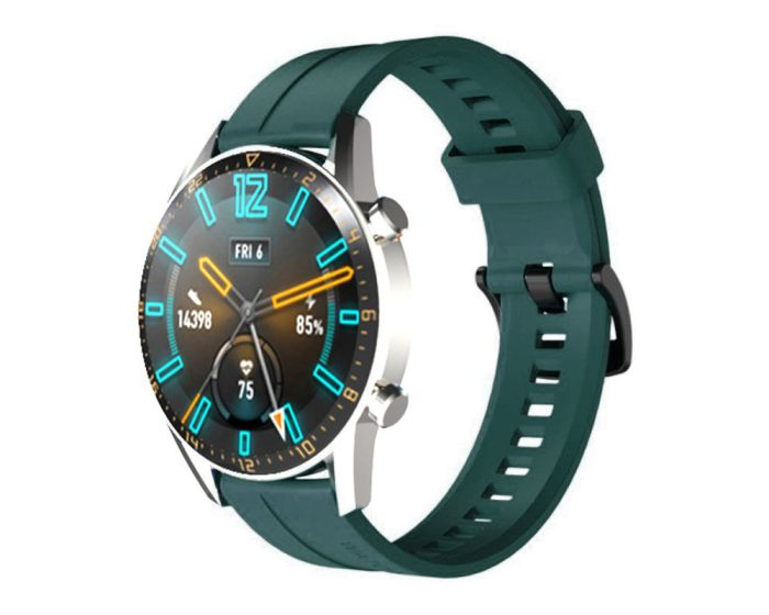 Silicone Replacement Band Two Green - Λουράκι Σιλικόνης για Huawei Watch GT / GT2 / GT2 Pro