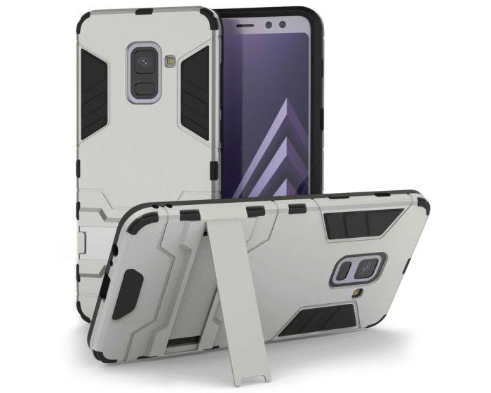 Centopi Ανθεκτική Θήκη με stand (SA-EA10-Z326) Silver (Samsung Galaxy A8 Plus 2018)