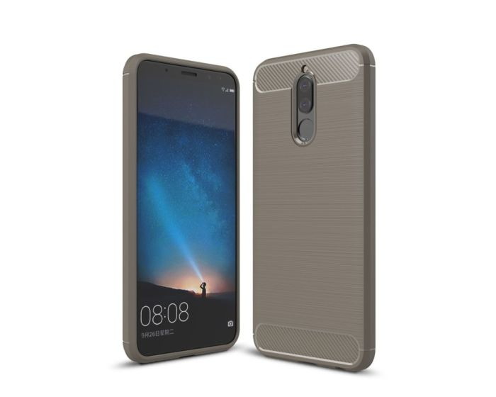 TPU Carbon Rugged Armor Case (173384) Grey (Huawei Mate 10 Lite)