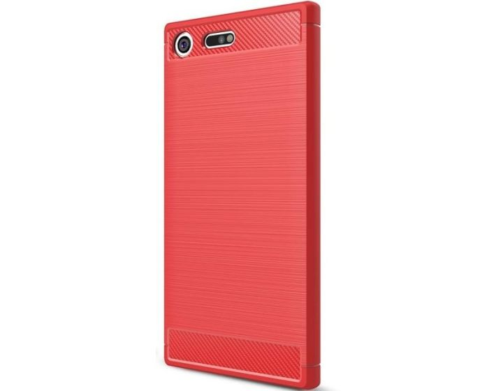 TPU Carbon Rugged Armor Case (160830) Red (Sony Xperia XZ Premium)