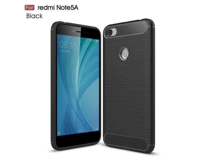 TPU Carbon Rugged Armor Case (171608) Black (Xiaomi Redmi Note 5A)