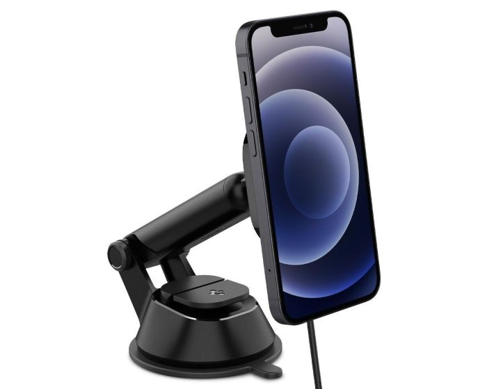 Spigen OneTap ITS35W (ACP02616) Dashboard Magnetic Car Wireless Charger for MagSafe 7.5W - Black