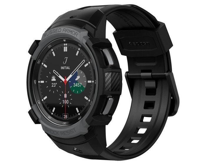 Spigen Rugged Armor Pro Case (ACS03652) Ανθεκτικό Λουράκι Θήκη (Samsung Galaxy Watch 4 Classic 46mm) - Charcoal Grey