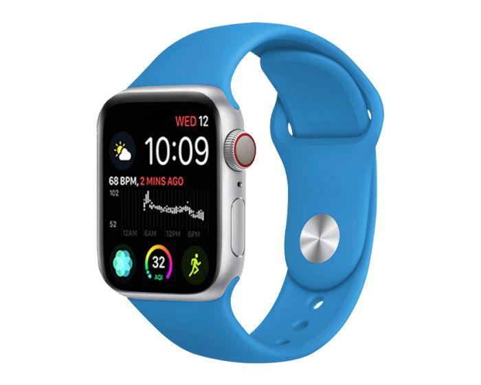 Stoband Themis Silicone Strap Λουράκι Σιλικόνης (Apple Watch 42/44mm 1/2/3/4/5/6/SE) - Alaskan Blue