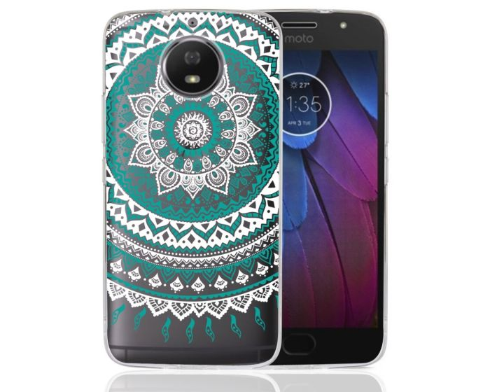 TPU Hybrid Case Mandala Design Θήκη Σιλικόνης Διάφανη Πράσινη (Motorola Moto G5s)