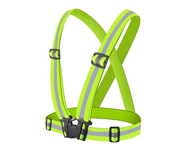 Unisex Adjustable Reflective Safety Harness Vest Φωσφοριζέ Γιλέκο - Yellow