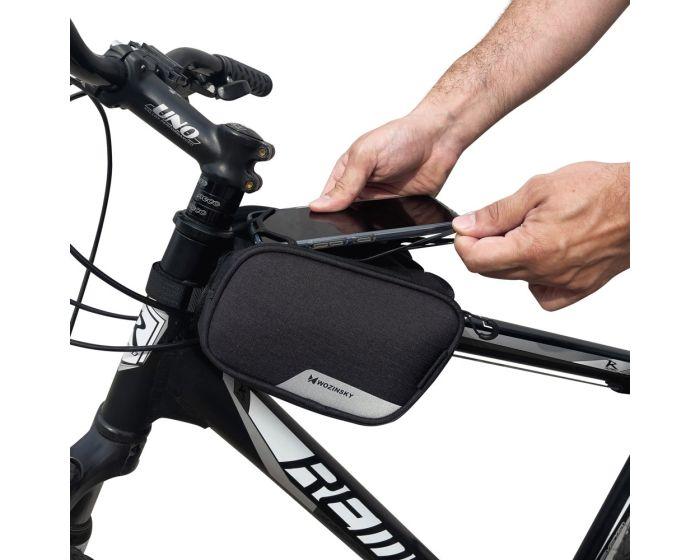 Wozinsky Bike Front Storage Bag 1.5L (WBB14BK) Τσαντάκι Ποδηλάτου με Θέση για Smartphone έως 6.5'' - Black