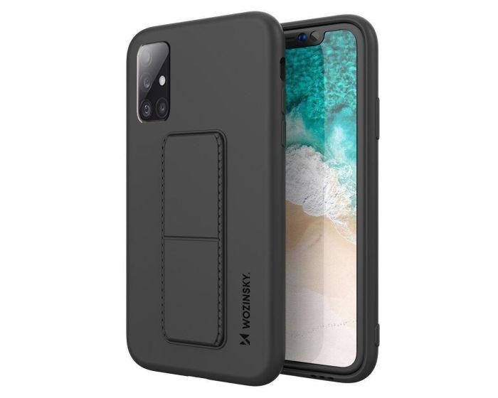 Wozinsky Kickstand Flexible Silicone Case - Θήκη Σιλικόνης με Stand Black (Samsung Galaxy A51 4G / 5G)