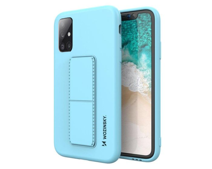 Wozinsky Kickstand Flexible Silicone Case - Θήκη Σιλικόνης με Stand Light Blue (Samsung Galaxy A51 4G / 5G)