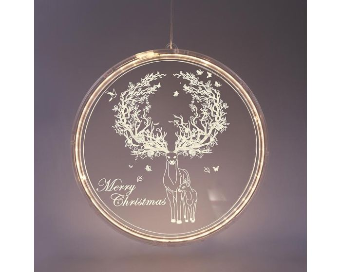 ACA 3D Acryllic Reindeer 36 Led Διακοσμητικό Ακρυλικό Τάρανδος - Warm White
