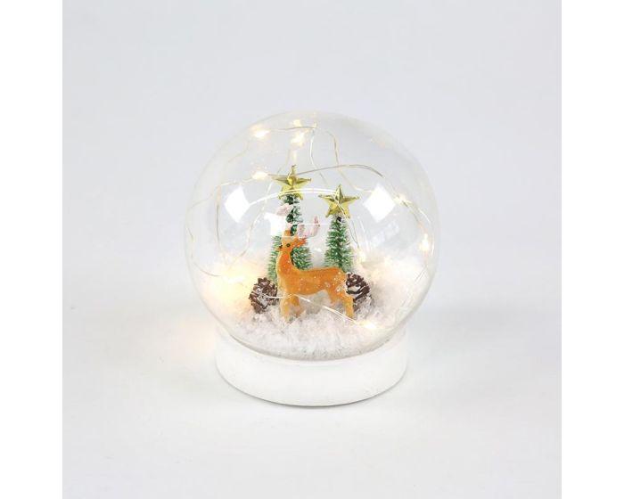 ACA Glass Snowball Reindeer (X07101131) Γυάλινη Χιονόμπαλα Τάρανδος - Warm White