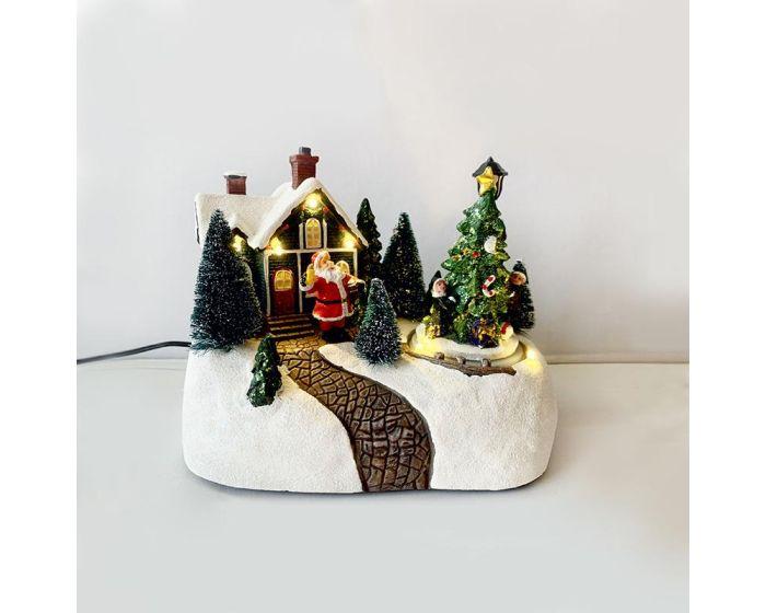 ACA Led Village with Motion and Music (X0301) Χριστουγεννιάτικο Χωριό - Warm White