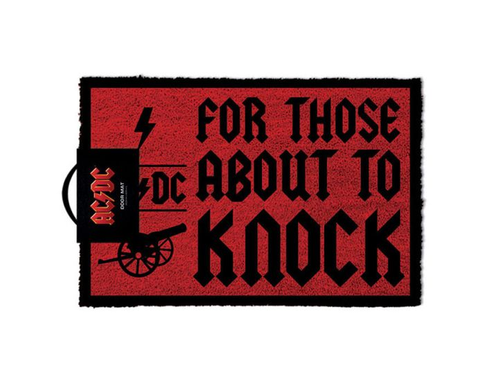 AC/DC (For Those About To Knock) Door Mat - Πατάκι Εισόδου 40x60cm