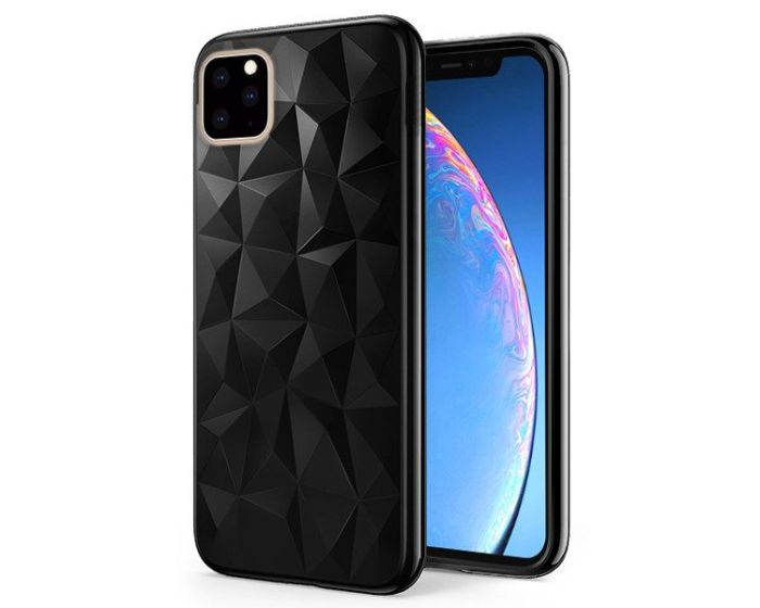 Forcell Air Prism 3D Pattern Flexible Θήκη Σιλικόνης Black (iPhone 11 Pro Max)