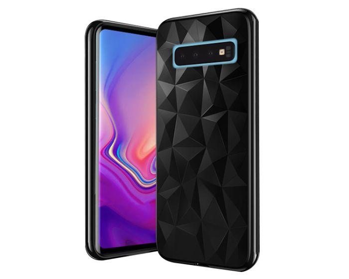 Forcell Air Prism 3D Pattern Flexible Θήκη Σιλικόνης Black (Samsung Galaxy S10 Plus)