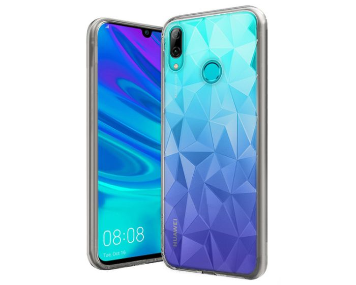 Forcell Air Prism 3D Pattern Flexible Θήκη Σιλικόνης Clear (Huawei P Smart 2019 / Honor 10 Lite)