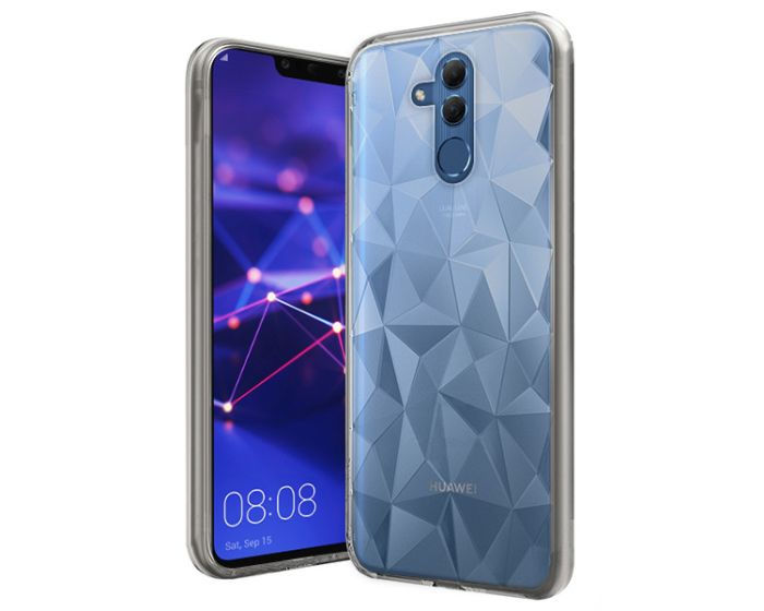 Forcell Air Prism 3D Pattern Flexible Θήκη Σιλικόνης Clear (Huawei Mate 20 Lite)