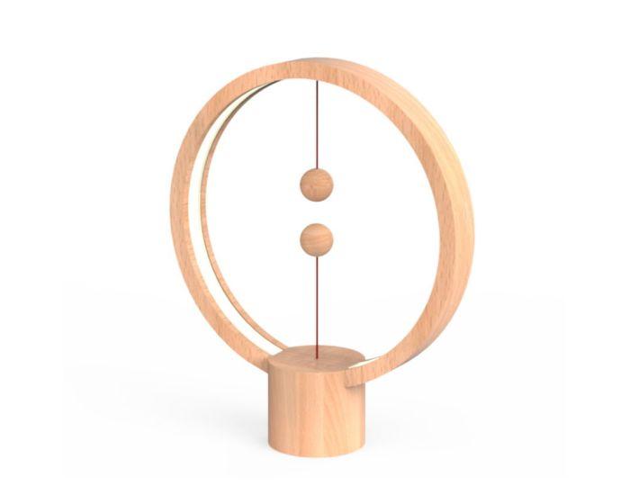 Allocacoc Heng Balance Wooden Lamp Round Φωτιστικό με Πρωτότυπο Διακόπτη από Μαγνήτες - Light Wood