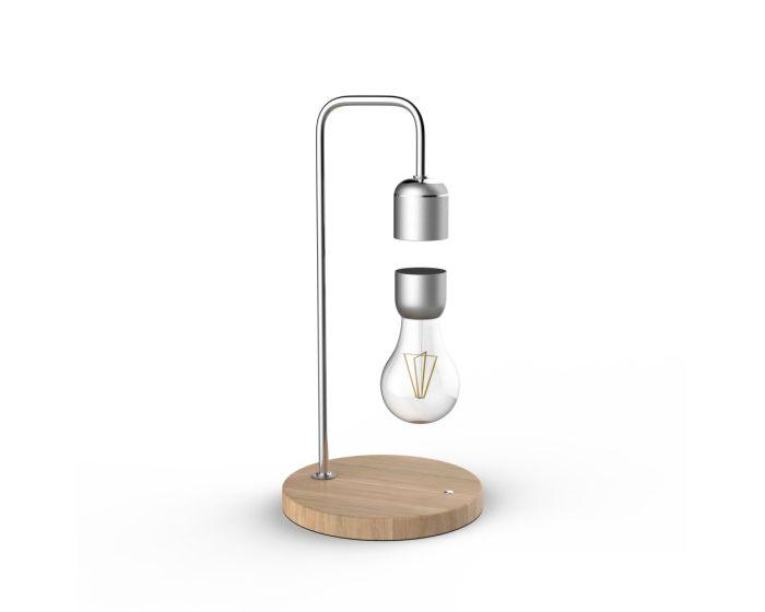 Allocacoc Levitating Table Lamp Επιτραπέζιο Φωτιστικό με Αιωρούμενη Λάμπα - Silver