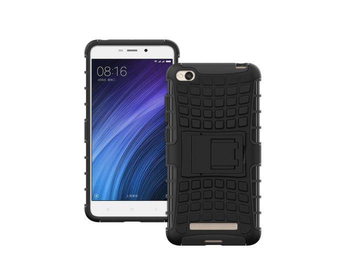 Forcell Shockproof Kickstand Case Ανθεκτική Θήκη με Δυνατότητα Στήριξης Black (Xiaomi Redmi 4A)