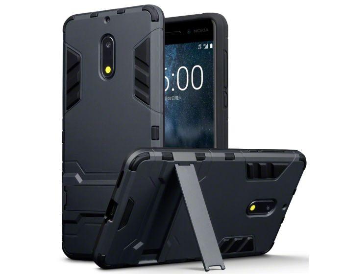 Terrapin Ανθεκτική Θήκη με stand (131-001-015) Μαύρο (Nokia 6)
